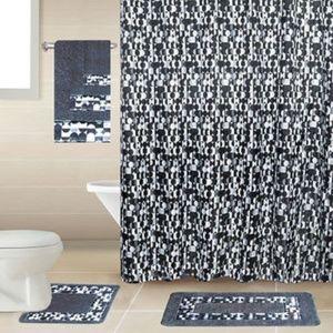 Other - 18 Pieces Printed GREY Bathroom Sets